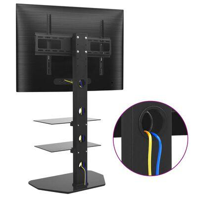 vidaXL forgatható álló TV-tartó konzol 2 polccal VESA 600 x 400 mm