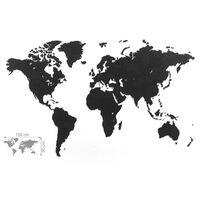 MiMi Innovations Luxury fekete világtérkép puzzle fali dísz 150x90 cm