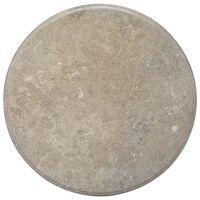 vidaXL szürke márvány asztallap Ø70 x 2,5 cm