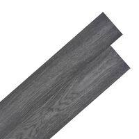 vidaXL fekete/fehér 2 mm-es öntapadó PVC padló burkolólap 5,02 m²