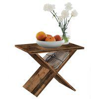 FMD régi stílusú barna dohányzóasztal