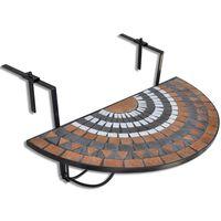 vidaXL terrakotta és fehér mozaik felakasztható erkély asztal