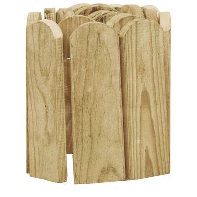 vidaXL zöld impregnált fenyőfa bordűrtekercs 120 cm