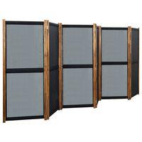 vidaXL fekete 6 paneles paraván 420 x 170 cm