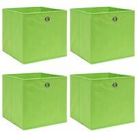 vidaXL 4 db zöld szövet tárolódoboz 32 x 32 x 32 cm
