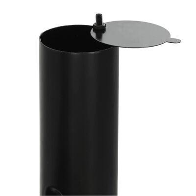 vidaXL klasszikus faszenes grillező különálló füstölővel