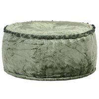 vidaXL zöld kerek bársony puff 40 x 20 cm
