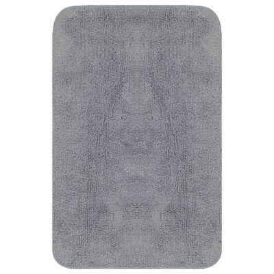 vidaXL 3 darabos szürke szövet fürdőszobaszőnyeg-garnitúra, Szürke