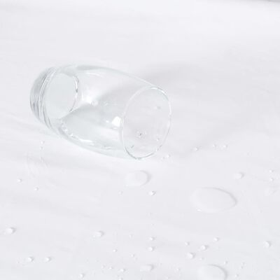 vidaXL 2 db fehér vízálló pamut lepedő 180 x 200 cm
