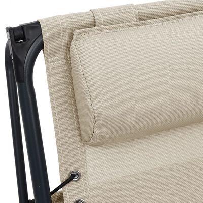 vidaXL krémszínű összecsukható textilén nyugágy