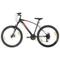 vidaXL 21 sebességes fekete mountain bike 29 hüvelykes kerékkel 48 cm