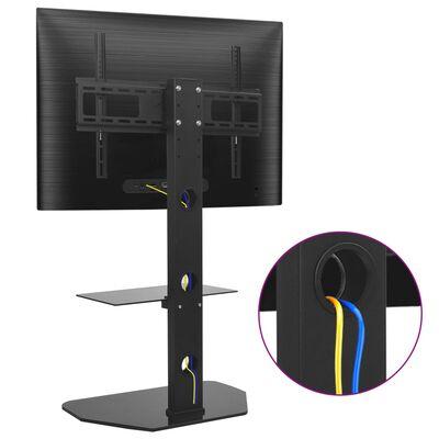 vidaXL forgatható álló TV-tartó konzol polccal VESA 600 x 400 mm