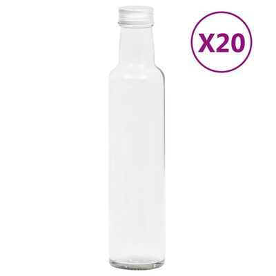 vidaXL 20 db 260 ml-es keskeny üvegpalack csavaros kupakkal