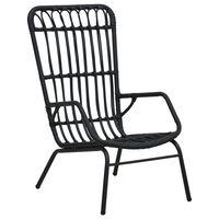 vidaXL fekete polyrattan kerti szék