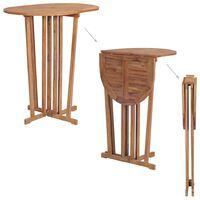 vidaXL tömör tíkfa összecsukható bárasztal 100 x 65 x 105 cm