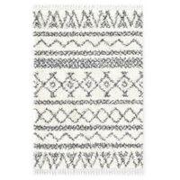vidaXL bézs-szürke bozontos PP berber szőnyeg 120 x 170 cm