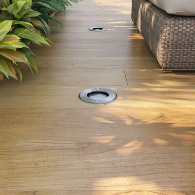 vidaXL 3 db kör alakú, kültéri talajba építhető LED lámpa