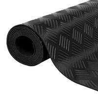 vidaXL bordás csúszásgátló gumiszőnyeg 1,5 x 4 m 3 mm
