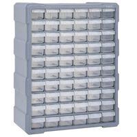 vidaXL többfiókos szervező 60 fiókkal 38 x 16 x 47,5 cm