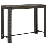 vidaXL barna polyrattan kerti bárasztal 140,5 x 60,5 x 110,5 cm