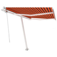 vidaXL narancssárga-barna szélérzékelős és LED-es napellenző 350x250cm