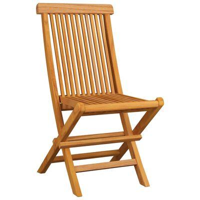 vidaXL 8 db tömör tíkfa kerti szék krémfehér párnával