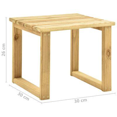 vidaXL impregnált fenyőfa kerti napozóágy asztallal és párnával