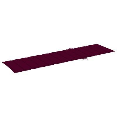 vidaXL bordó szövet napozóágypárna 200 x 50 x 4 cm