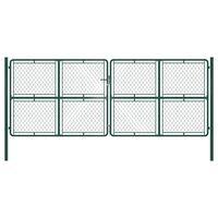 vidaXL zöld acél kertkapu 400 x 150 cm