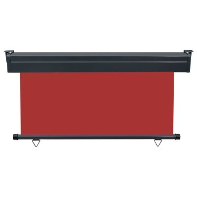 vidaXL piros oldalsó terasznapellenző 140 x 250 cm