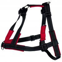 TRIXIE Lead'n'Walk Soft S-M-es méretű fekete kutyahám 45-70 cm