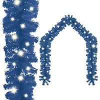 vidaXL kék karácsonyi füzér LED-es izzókkal 20 m