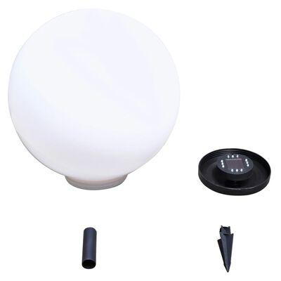 vidaXL 2 db kültéri gyalogjáró LED-lámpa cölöppel 50 cm
