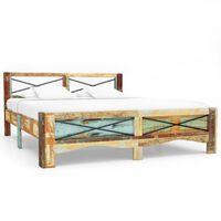 vidaXL tömör újrahasznosított fa ágykeret 140 x 200 cm