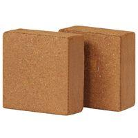 vidaXL 2 db 5 kg-os kókuszrost tégla 30 x 30 x 10 cm