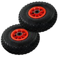 vidaXL 2 db molnárkocsi-kerék gumi 3.00-4 (260 x 85)
