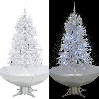 vidaXL fehér havazó karácsonyfa ernyő alakú talppal 170 cm