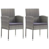 vidaXL 2 darab antracitszürke polyrattan kerti szék