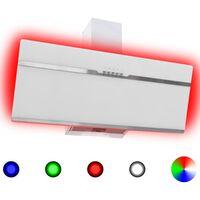 vidaXL rozsdamentes acél és edzett üveg RGB páraelszívó LED-del 90 cm