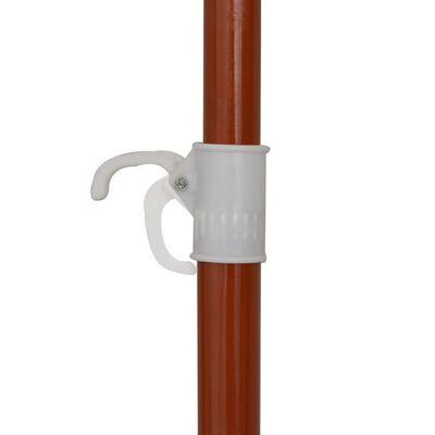 vidaXL antracitszürke napernyő acélrúddal 300 cm