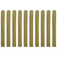 vidaXL 20 db impregnált fa kerítésléc 100 cm