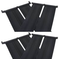 vidaXL 4 db napelemes medencefűtő panel 80 x 310 cm