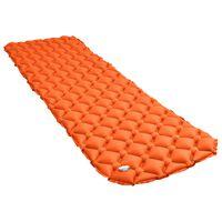 vidaXL narancssárga felfújható matrac 58 x 190 cm
