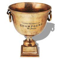 vidaXL győzelmi kupa pezsgőhűtő vörösréz barna