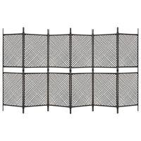 vidaXL barna 6 paneles paraván 360 x 200 cm