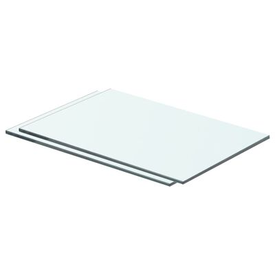 vidaXL 2 db átlátszó üveg paneles polc 40 x 20 cm
