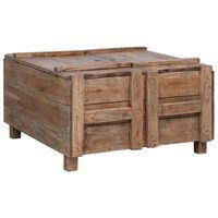 vidaXL tömör újrahasznosított fa dohányzóasztal 65 x 65 x 38 cm