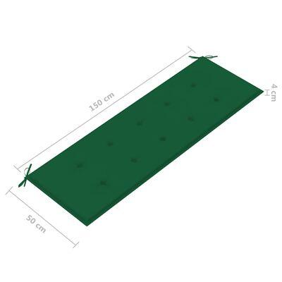 vidaXL zöld kerti padpárna 150 x 50 x 4 cm