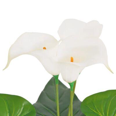 vidaXL műkála liliom virágcseréppel 85 cm fehér