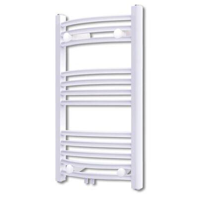Fürdőszobai törölközőszárító radiátor központi fűtéssel oldalsó és középső csatlakozóval ívelt 500 x 764 mm